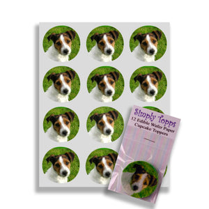 Jack Russell Terrier Cupcake Toppers - SimplyCakeCraft