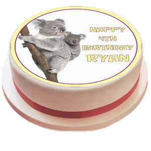 Personalised Koala Cake Topper - SimplyCakeCraft