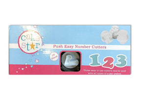 Push Easy Numbers Cutters Set - SimplyCakeCraft