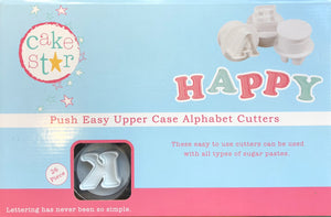Push Easy Uppercase Alphabet Cutters Set - SimplyCakeCraft