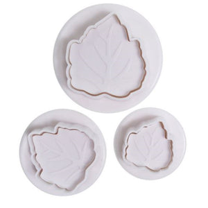 Leaf Plunger Cutter Set of 3 - SimplyCakeCraft