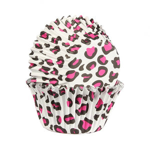Pink Leopard Cupcake Cases - Pack of 25 - SimplyCakeCraft