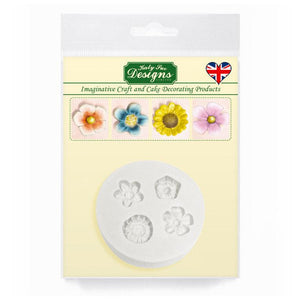 Little Flowers Silicone Mould By Katy Sue - SimplyCakeCraft