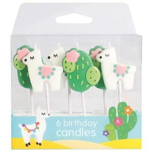 Llama Candles - 6 Piece - SimplyCakeCraft