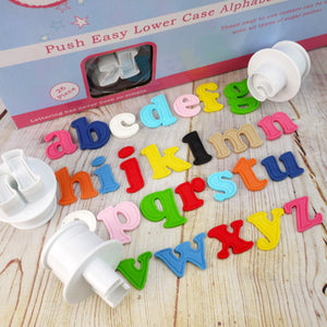 Push Easy Lowercase Alphabet Cutters Set - SimplyCakeCraft