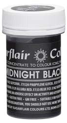 Midnight Black Concentrated Pastel Colour Paste 25g