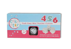 Push Easy Mini Number Cutters Set - SimplyCakeCraft