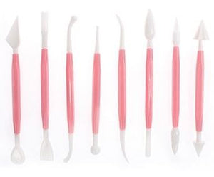 8 Piece Cake Decoration Modelling Tool Set - SimplyCakeCraft
