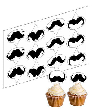 Movember Cupcake Picks -  - SimplyCakeCraft