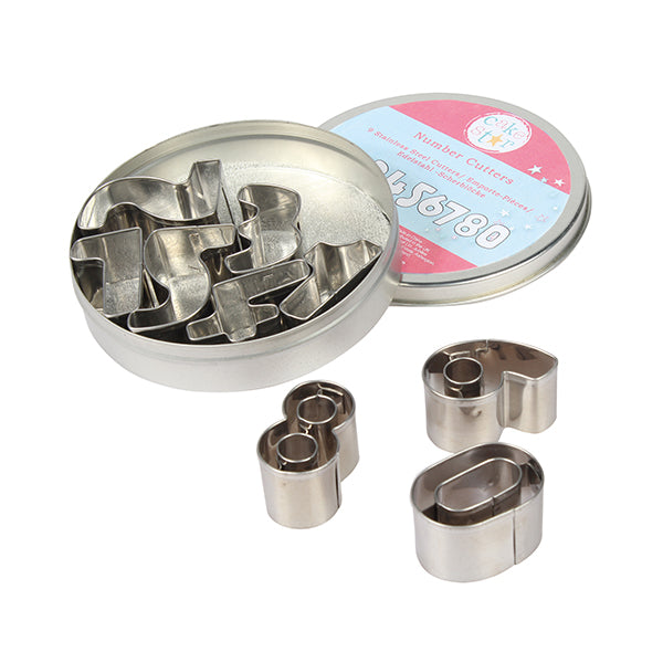 Cake Star Metal Number Cutters - Set of 9 - SimplyCakeCraft