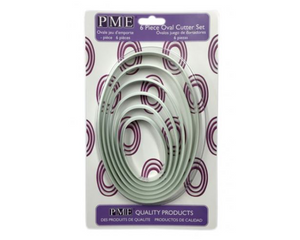 PME Oval Plastic Cutters Set of 6 - SimplyCakeCraft