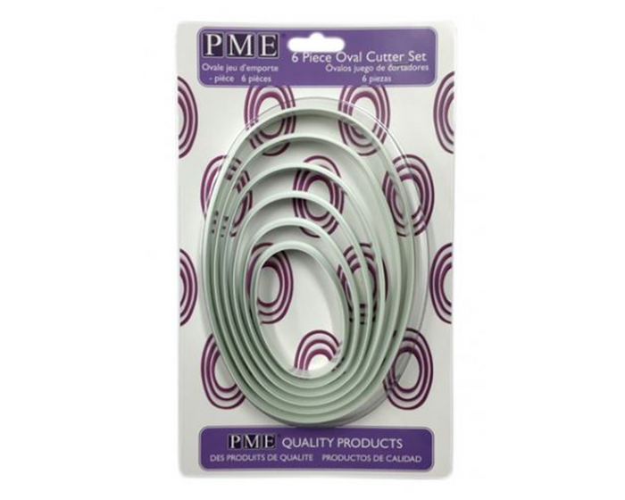 PME Oval Plastic Cutters Set of 6