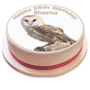 Personalised Owl Cake Topper - SimplyCakeCraft