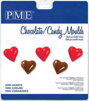 PME Mini Hearts Chocolate / Candy Mould - SimplyCakeCraft