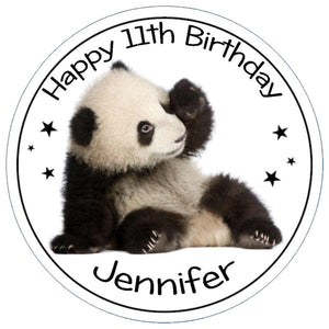 Personalised Panda Cake Topper - SimplyCakeCraft