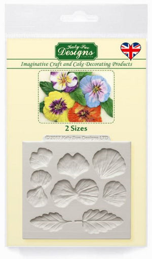 Pansy Flowers Silicone Mould By Katy Sue - SimplyCakeCraft