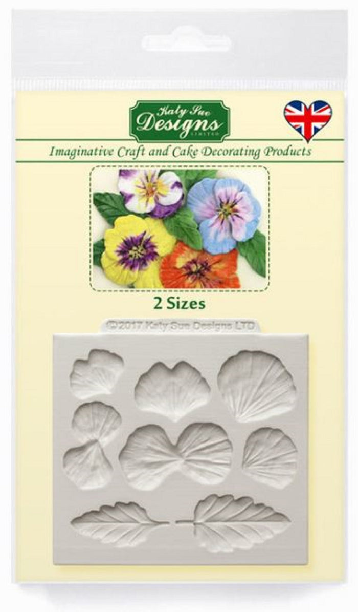 Pansy Flowers Silicone Mould By Katy Sue