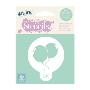 Party Balloons Round Stencil from SK - SimplyCakeCraft