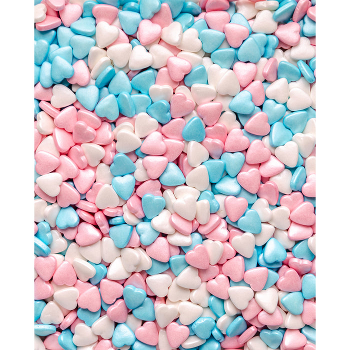 Hearts - Pink, White & Blue (Tablet)