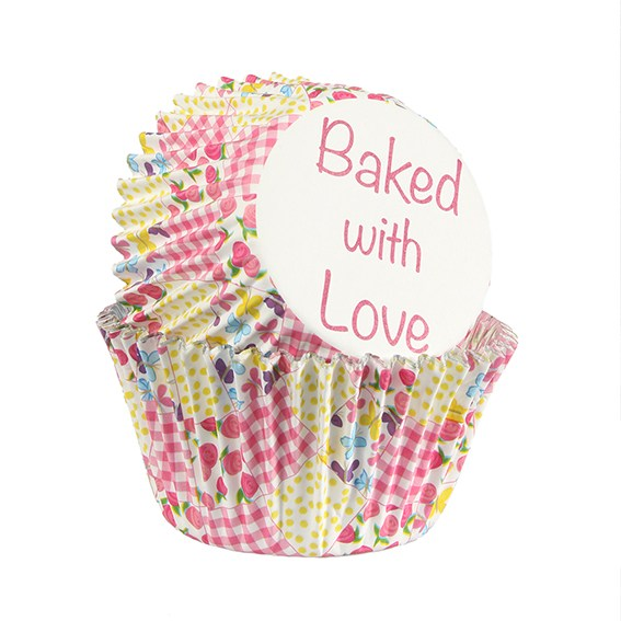 Patchwork Design Cupcake Cases - Pack of 25