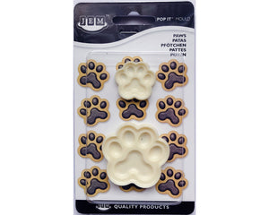 JEM Paws (Set of 2) Pop-it Mold - SimplyCakeCraft
