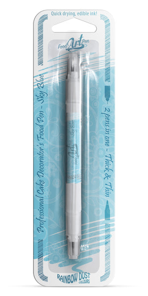 Sky Blue Rainbow Dust Food Art Pen - SimplyCakeCraft