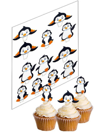 Penguin Cupcake Edible Decoration Picks - SimplyCakeCraft