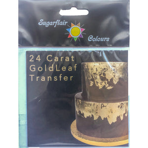 24 Carat Gold Leaf Transfer - SimplyCakeCraft