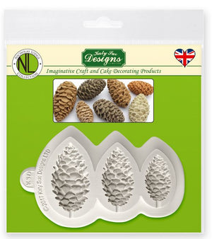 Pine Cones Silicone Mould By Katy Sue - SimplyCakeCraft