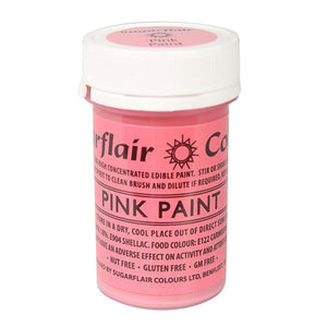 Sugarflair Edible Paint - Pink - SimplyCakeCraft