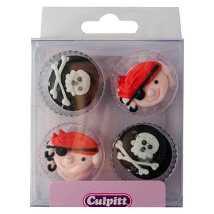 12 Pirate Sugar Decorations - SimplyCakeCraft