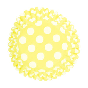 Polkadot Yellow Cupcake Cases - SimplyCakeCraft