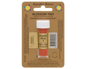Sugarflair Edible Blossom Tint - Poppy Red - SimplyCakeCraft