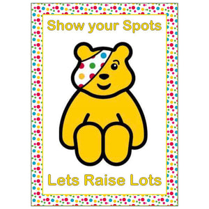 Pudsey Icing Sheet Cake Topper - SimplyCakeCraft