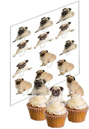 Pugs Cupcake Picks - SimplyCakeCraft