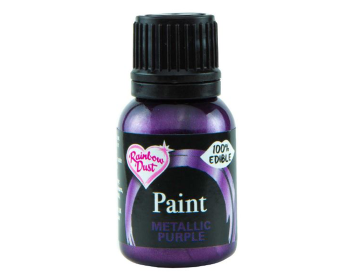 Metallic Purple Rainbowdust Food Paint