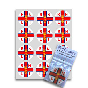 RNLI / Royal National Lifeboat Institution Cupcake Toppers -  - SimplyCakeCraft