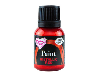 Metallic Red Rainbowdust Food Paint - SimplyCakeCraft