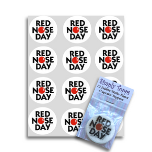 Red Nose Day Cupcake Toppers - SimplyCakeCraft