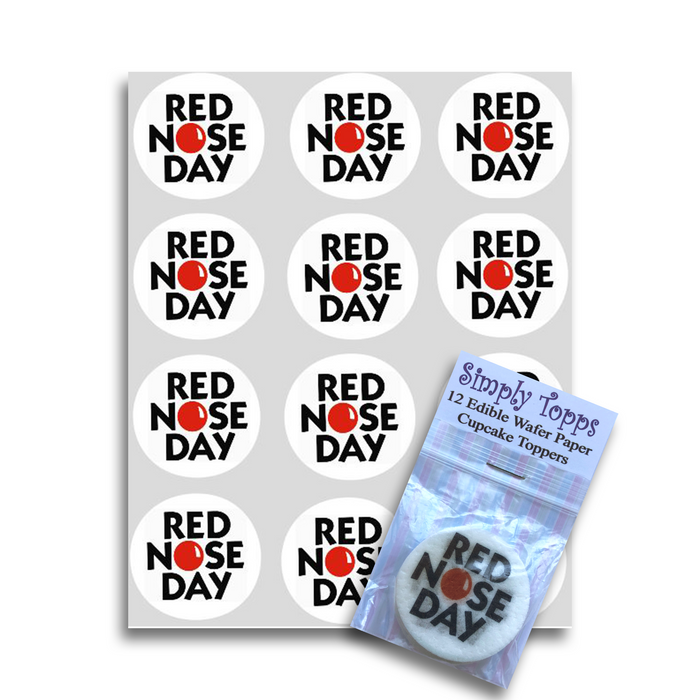 Red Nose Day Cupcake Toppers