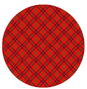 Scottish Tartan Red Printed Sugar Icing Sheet - SimplyCakeCraft