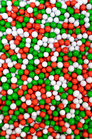 Chocolate Balls - Red, White & Green Christmas Blend - (Small/6mm) - SimplyCakeCraft