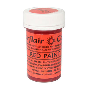Sugarflair Edible Paint - Red - SimplyCakeCraft