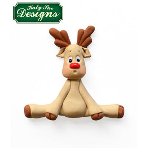 Katy Sue - Sugar Buttons -  Reindeer Silicone Mould - SimplyCakeCraft