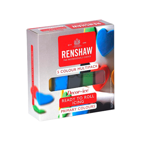 Renshaw Multipack 'Primary Colours' Ready To Roll Icing
