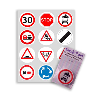 Road Signs Cupcake Toppers - SimplyCakeCraft
