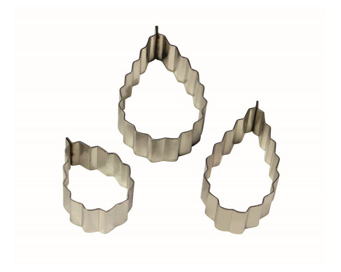 PME Rose Leaf (Serrated) Stainless Steel Cutters Set of 3