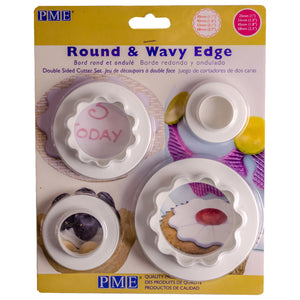 PME Round & Wavy Edge Cutter Set of 4 - SimplyCakeCraft