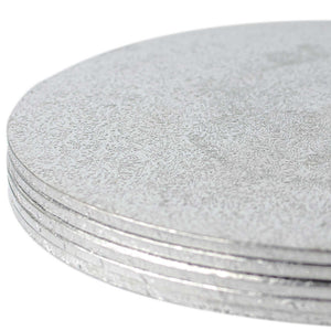 Round Silver Cake Card (2mm) - Range of Sizes - SimplyCakeCraft