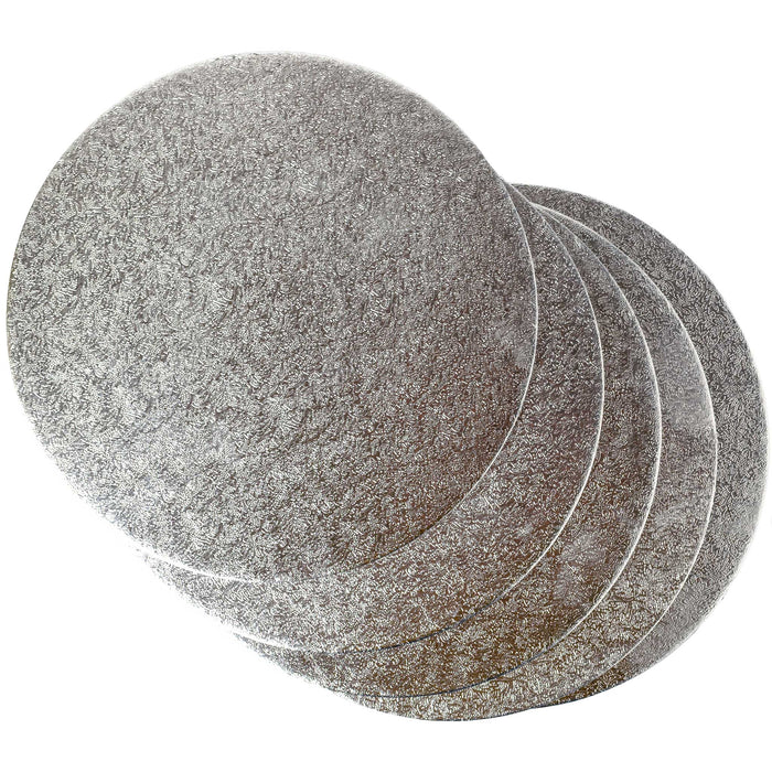 Round Silver Cake Card (2mm) - Range of Sizes